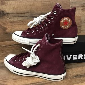 LEATHER CONVERSE CTAS HIGH TOP BRAND NEW
